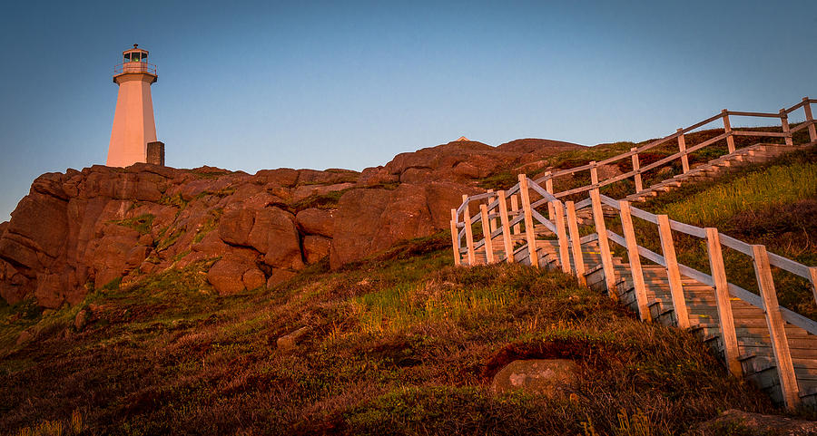 Cape Spear Photograph - Golden Staircase by David Pinsent