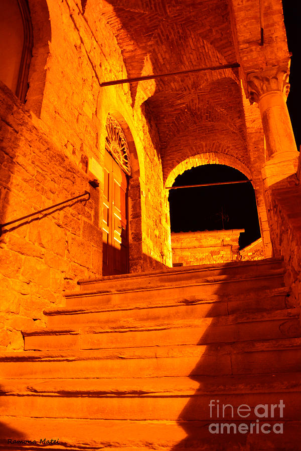 Italy Photograph - Golden Stairs by Ramona Matei