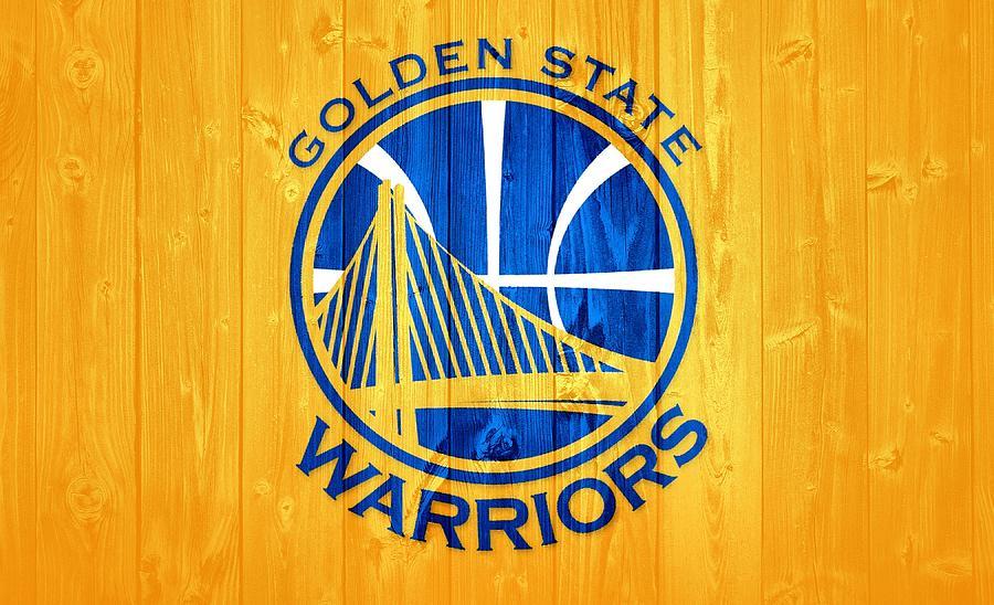 Golden State Warriors Mixed Media - Golden State Warriors Barn Door by Dan Sproul
