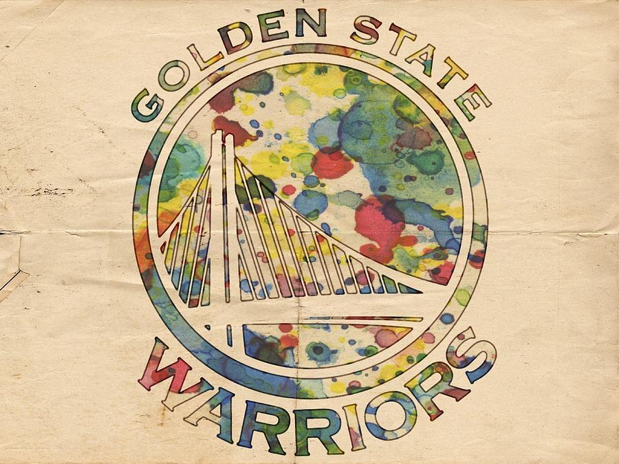 Golden State Warriors Painting - Golden State Warriors Logo Art by Florian Rodarte