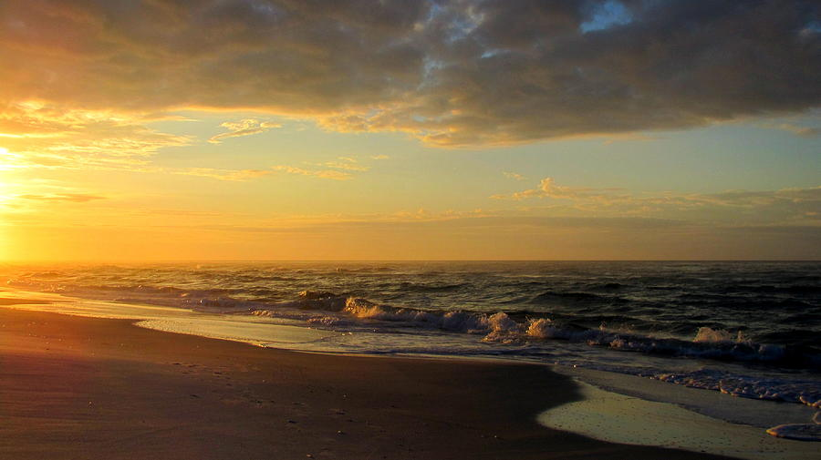 Water Photograph - Golden Sunrise by Denise   Hoff