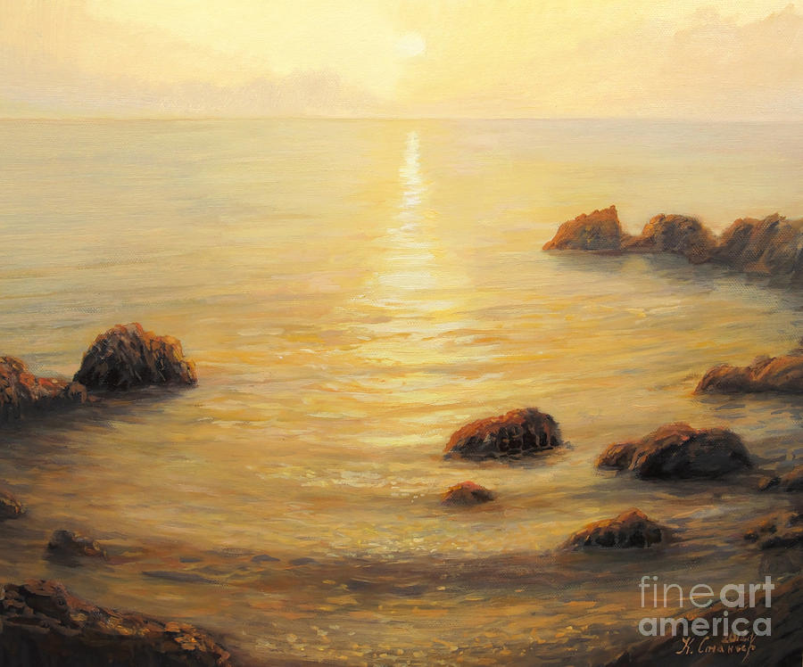 Artistic Painting - Golden Sunrise by Kiril Stanchev