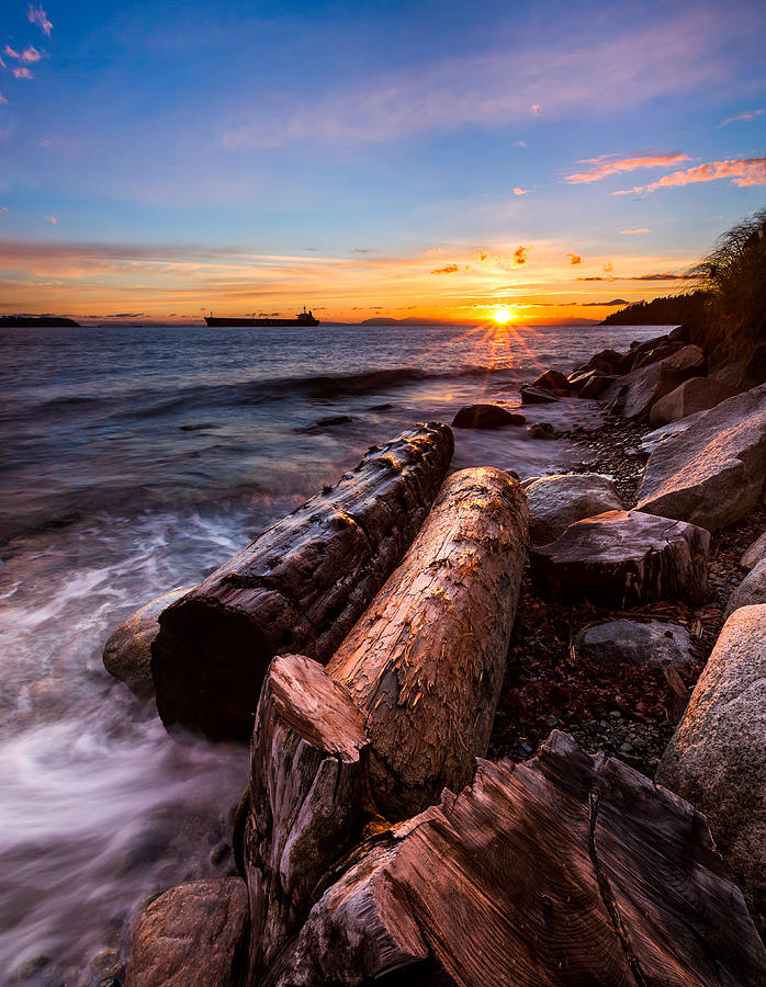 Sunset Photograph - Golden Sunset by Alexis Birkill