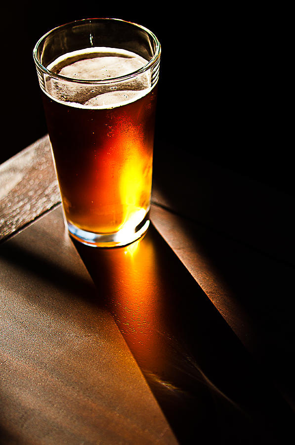 Beer Photograph - Golden Sunset by David Pinsent