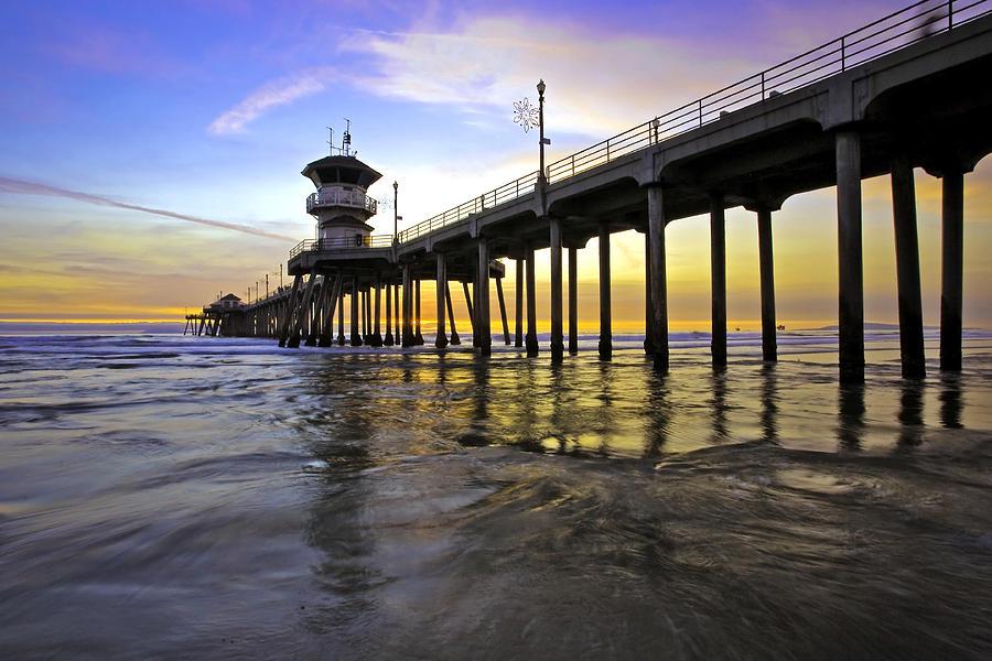 Beach Sunset Photograph - Golden Sunset by Doug Dailey