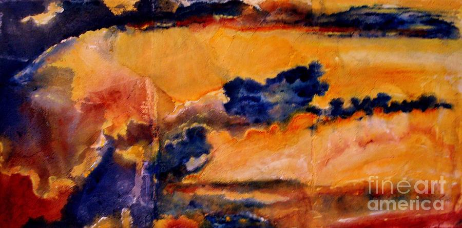 Sunset Painting - Golden Sunset by Julia  Walsh