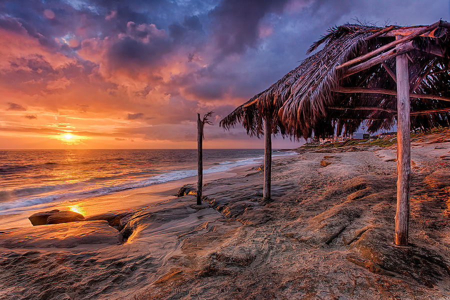 Golden Sunset The Surf Shack Photograph