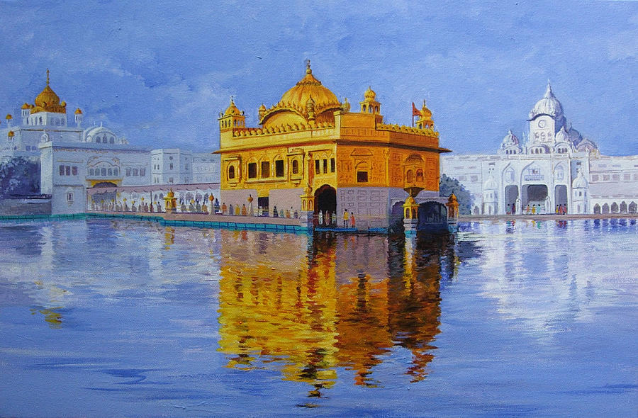 Landscape Painting - Golden Temple by Deepali Sagade