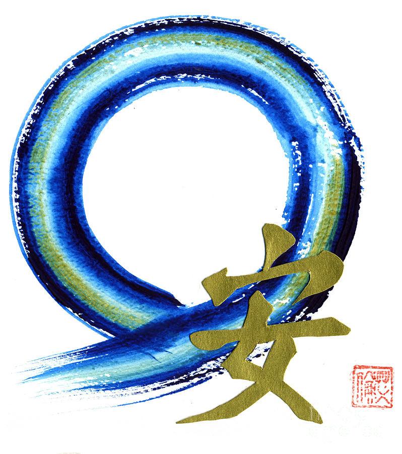 Zenga Painting - Golden Tranquility by Ellen Miffitt