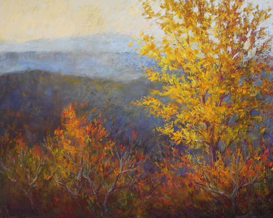 Plein Air Painting - Golden Tree by Julia Lesnichy