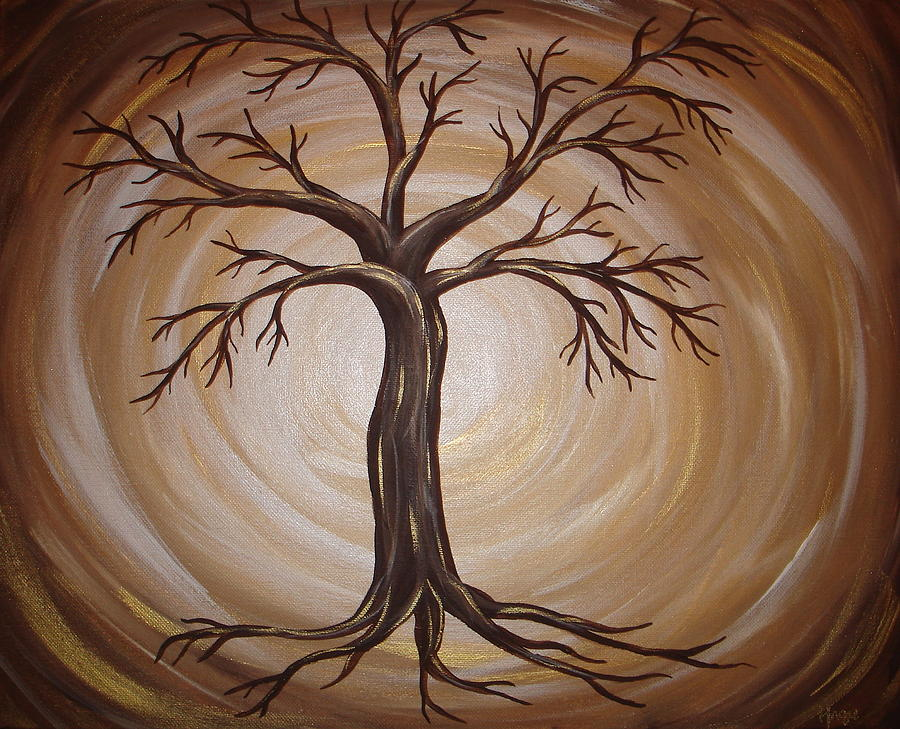 Golden Tree of LIfe by Angie Butler