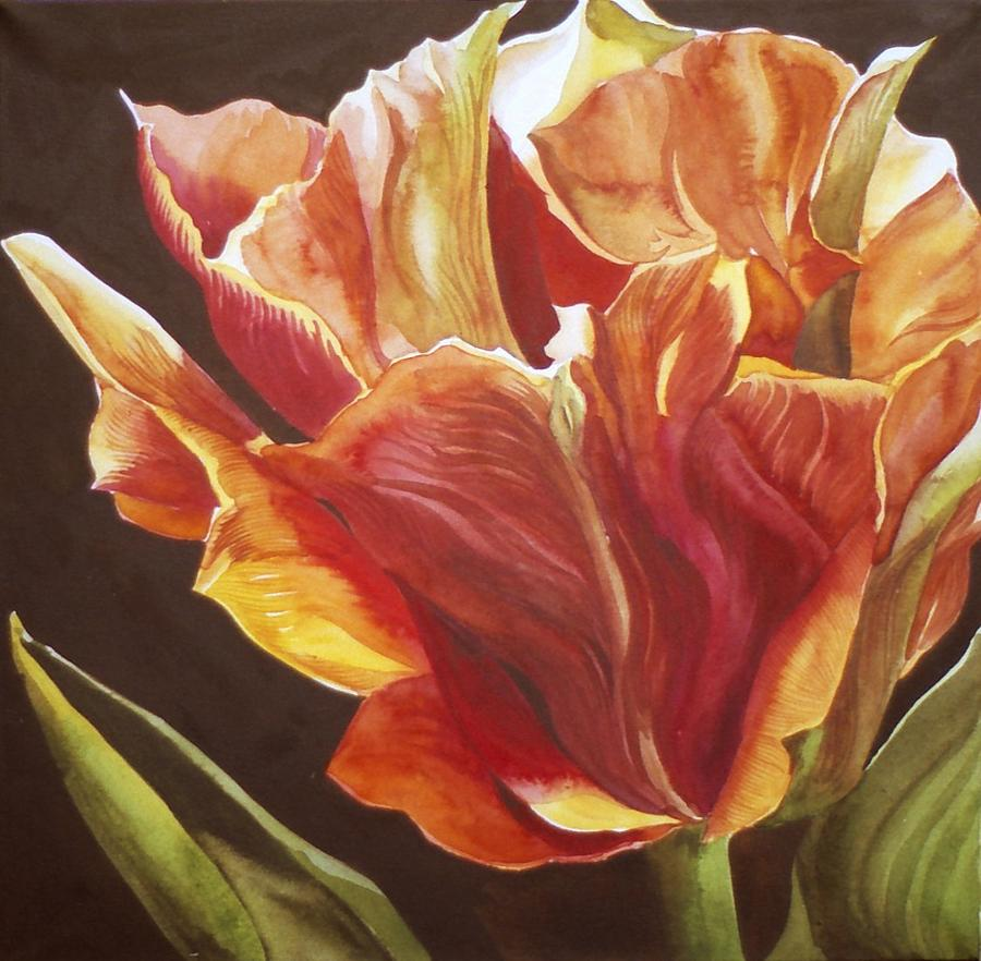Tulip Painting - Golden Tulip by Alfred Ng