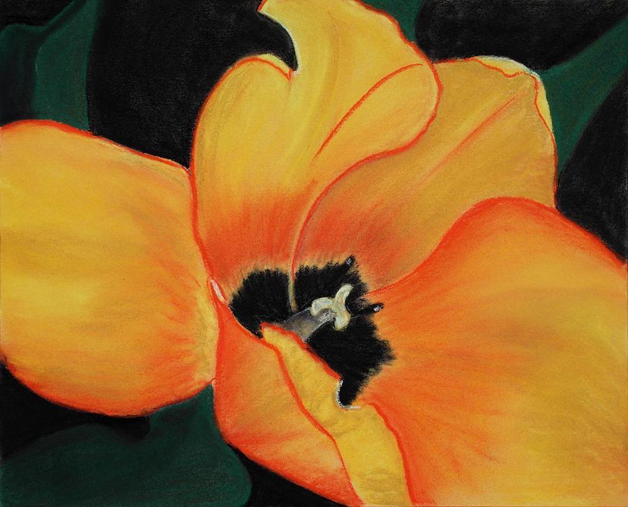 Decorative Painting - Golden Tulip by Anastasiya Malakhova