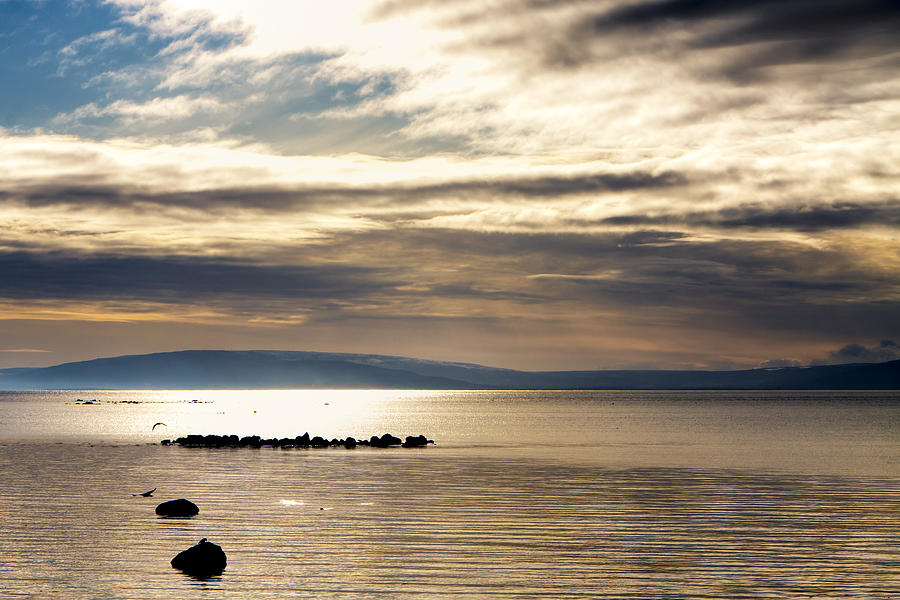 Galway Photograph - Golden Waters Of Galway Bay by Mark Tisdale