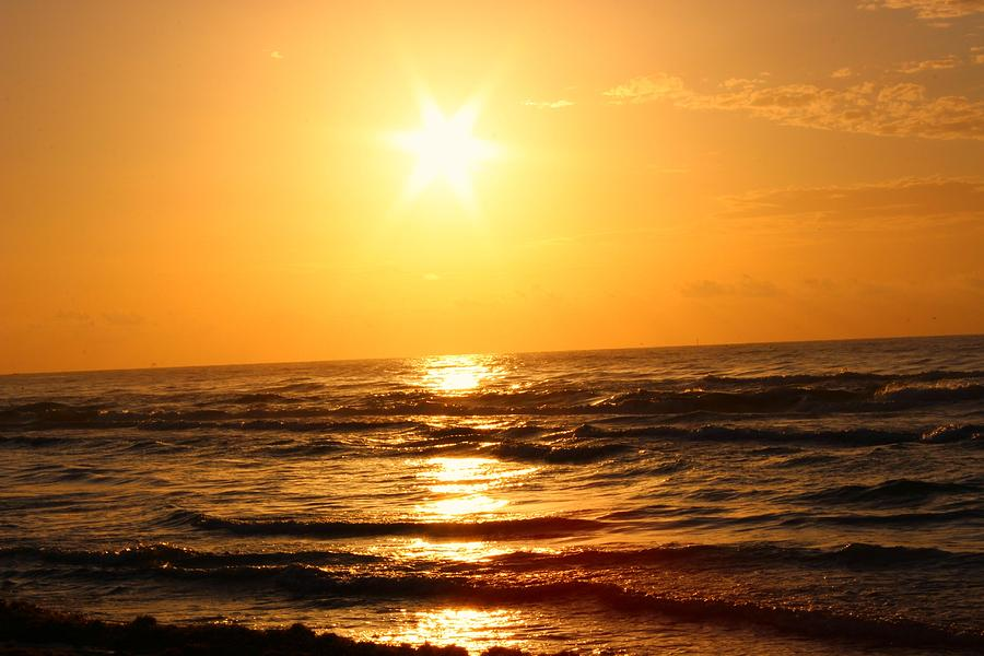 Sun Photograph - Golden Waves by Candice Trimble