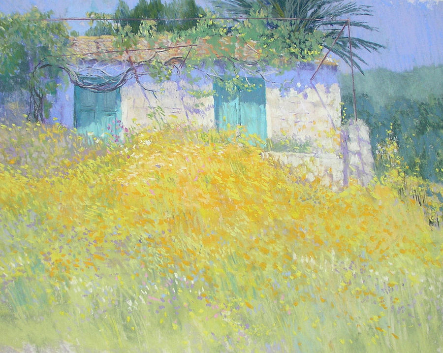 Wildflowers Painting - Golden Wildflowers Greece by Jackie Simmonds