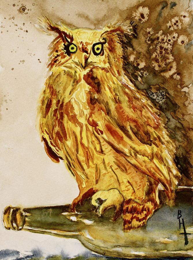Goldene Bier Eule Painting - Goldene Bier Eule by Beverley Harper Tinsley