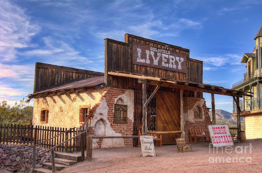 Livery Photograph - Goldfield Livery by Eddie Yerkish