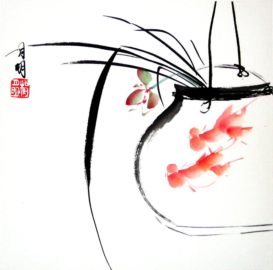 Chinese Painting Painting - Goldfish by Ming Yeung
