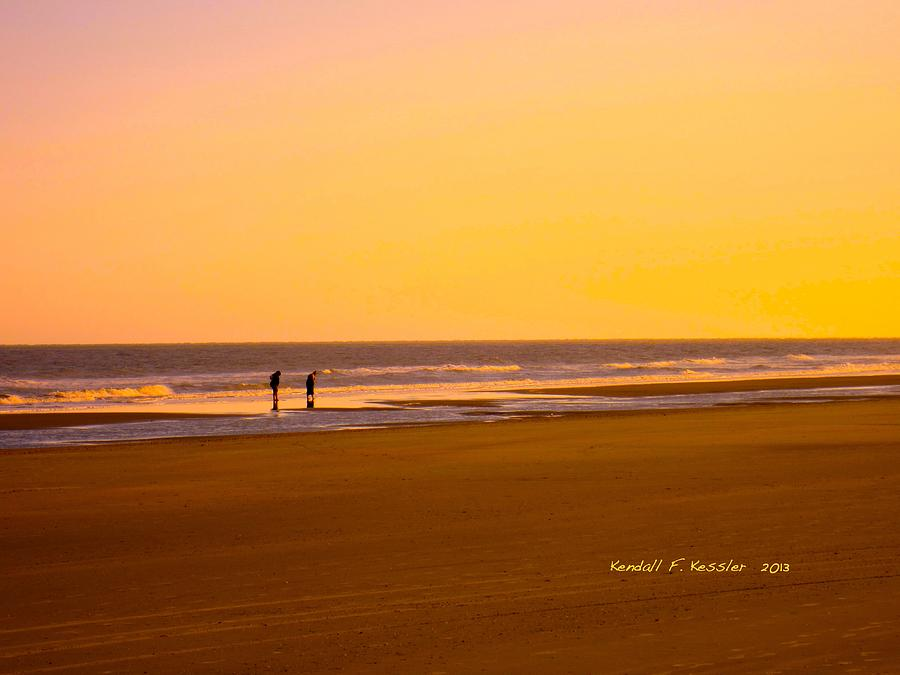 Isle Of Palms Photograph - Goldlen Shore At Isle Of Palms by Kendall Kessler