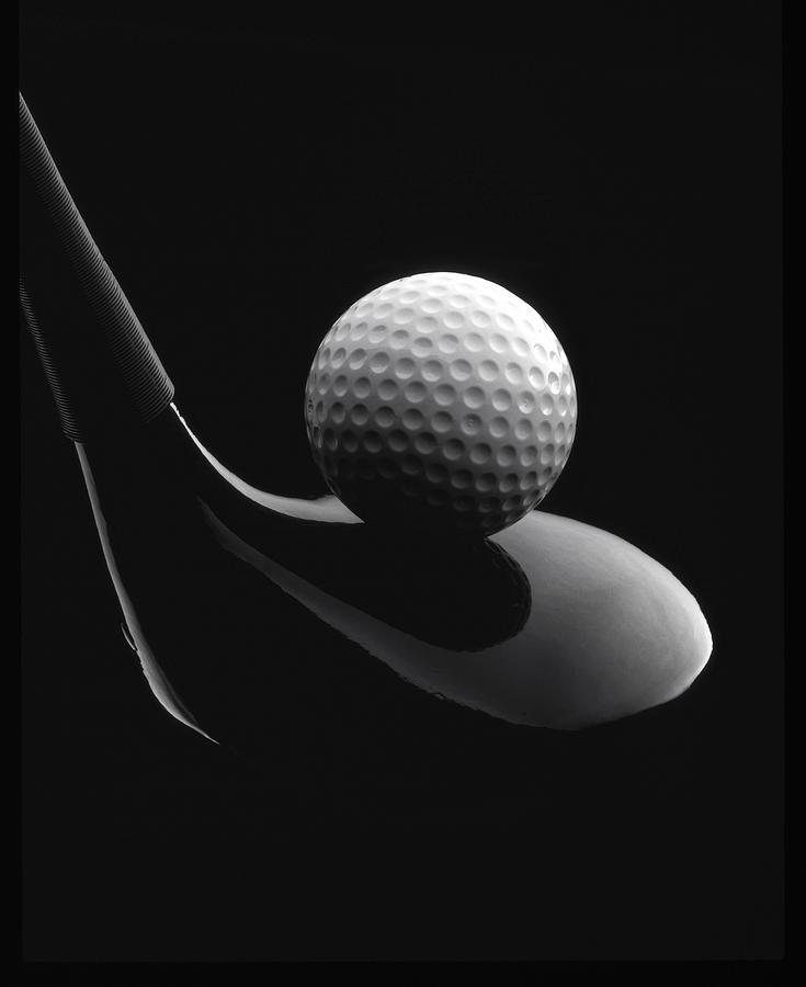 Golf Ball And Club Photograph By John Wong