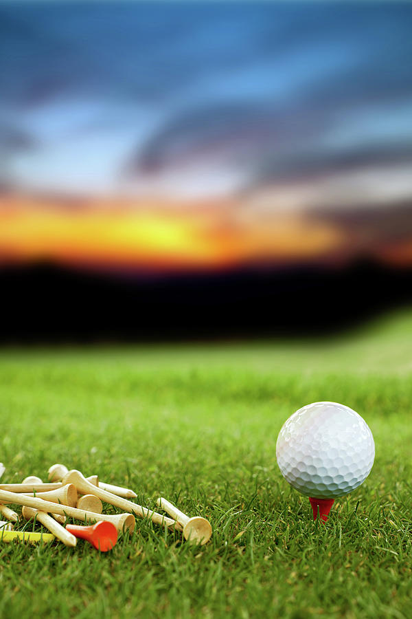 Golf Ball Photograph by Okanmetin