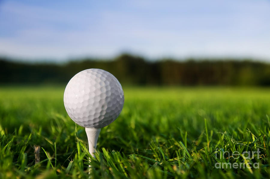 Golf Ball On Tee Photograph By Michal Bednarek