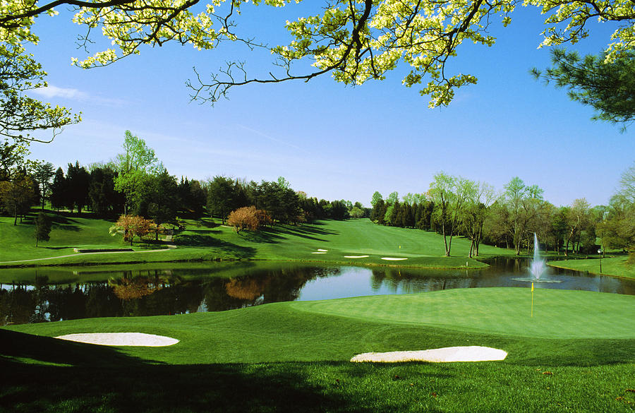 Color Image Photograph - Golf Course, Congressional Country by Panoramic Images