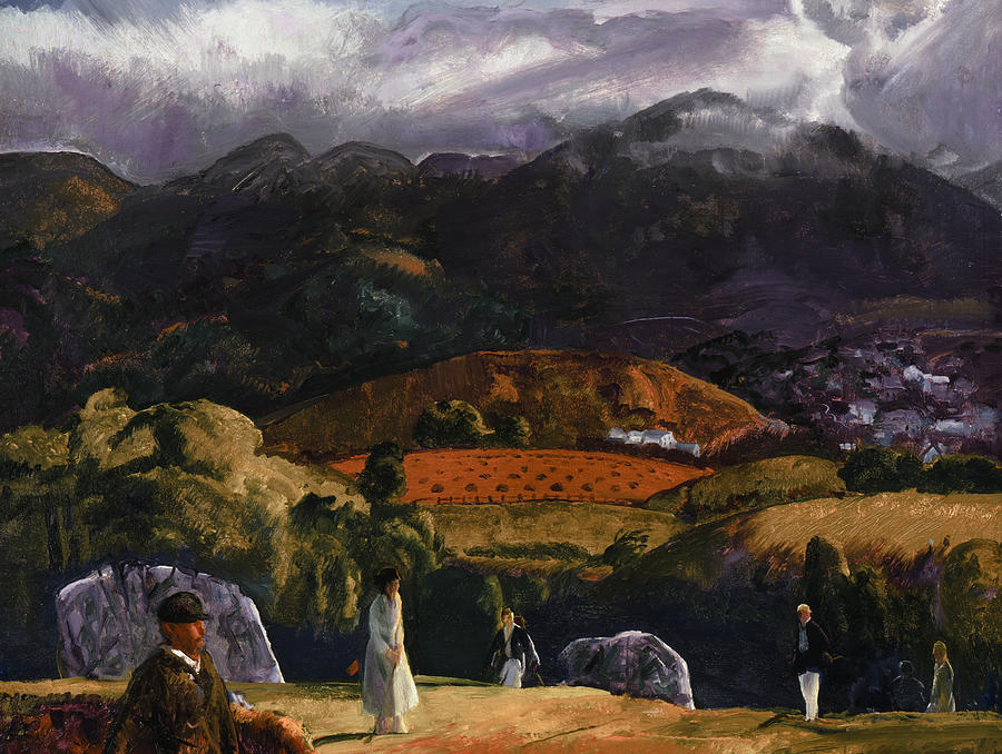 Bellows Painting - Golf Course by George Wesley Bellows