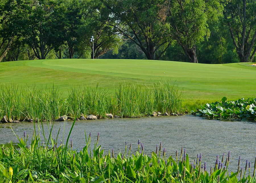 Golf Photograph - Golf Course Lay Up by Frozen in Time Fine Art Photography