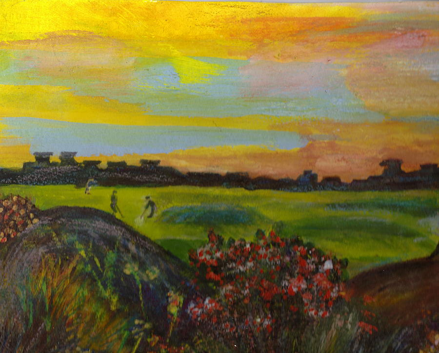 Golf Course Painting - Golf Course Of My Imagination by Anne-Elizabeth Whiteway