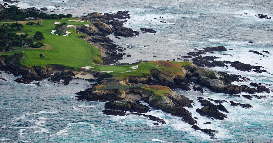 Color Image Photograph - Golf Course On An Island, Pebble Beach by Panoramic Images