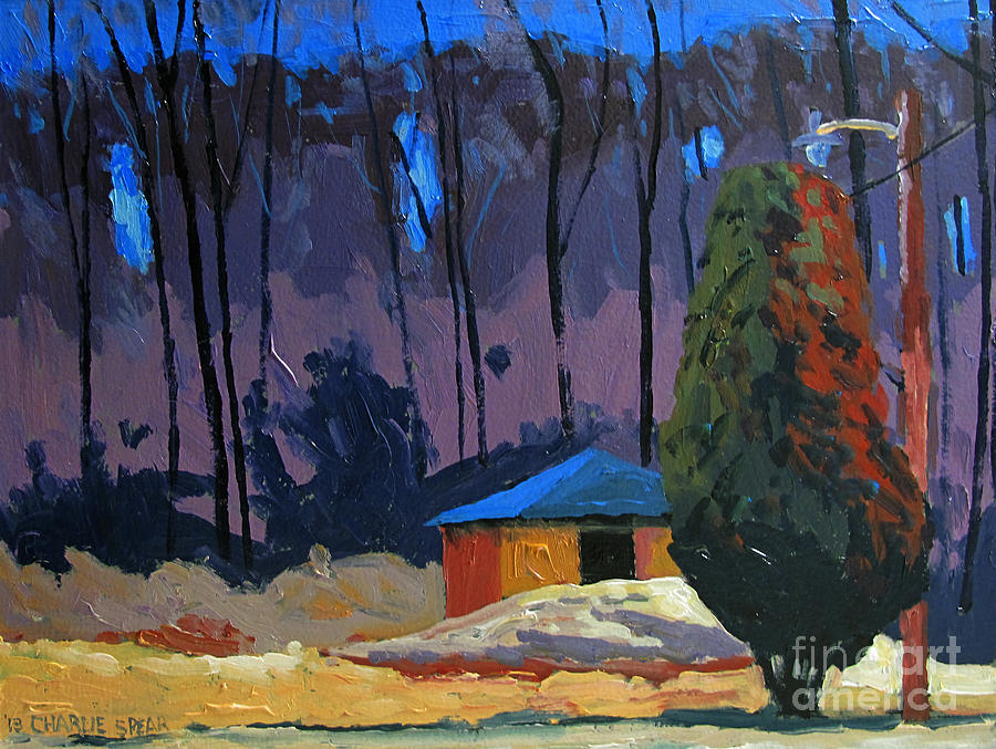 Golf Course Painting - Golf Course Shed Series No.2 by Charlie Spear