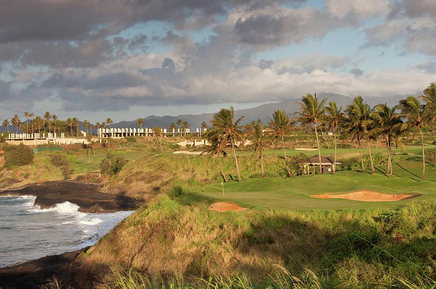 Golf Green Along Ocean Photograph by Imaginegolf