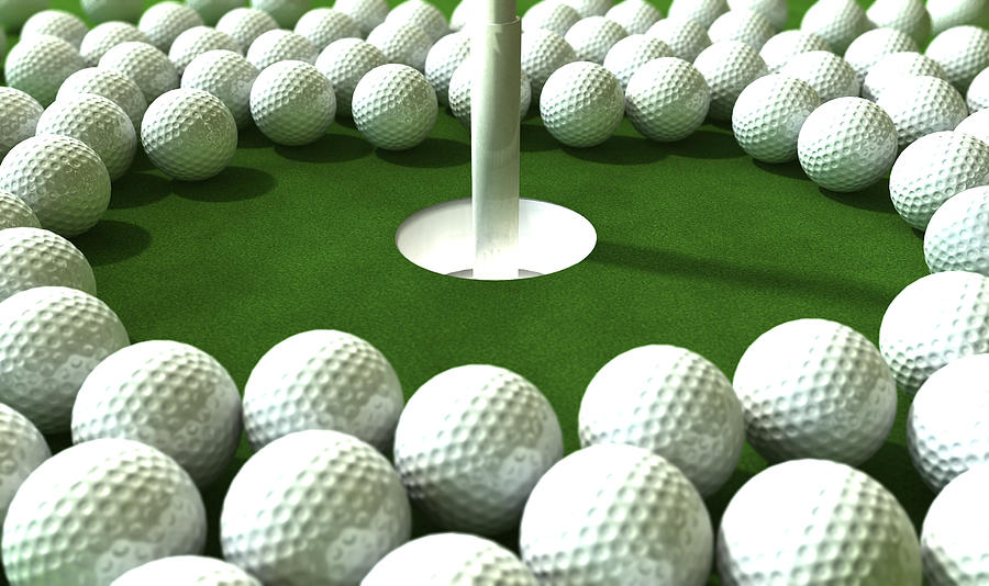 Ball Digital Art - Golf Hole Assault by Allan Swart