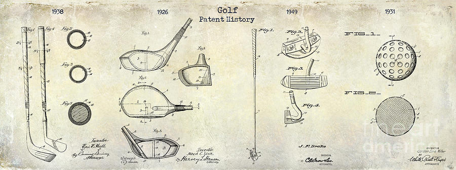 Golf Tee Photograph - Golf Patent History Drawing by Jon Neidert