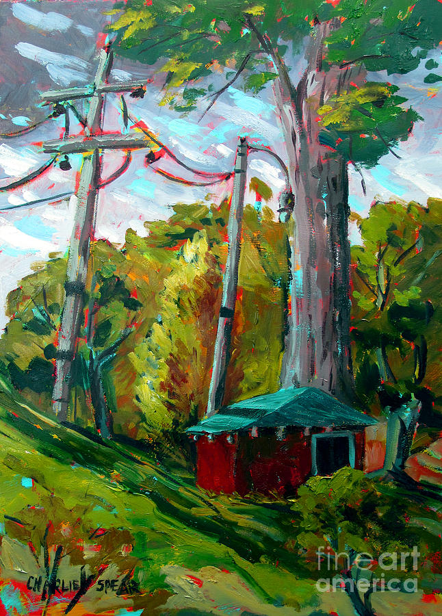 Golf Course Painting - Golf Shed Series No 15 A Synthesis by Charlie Spear