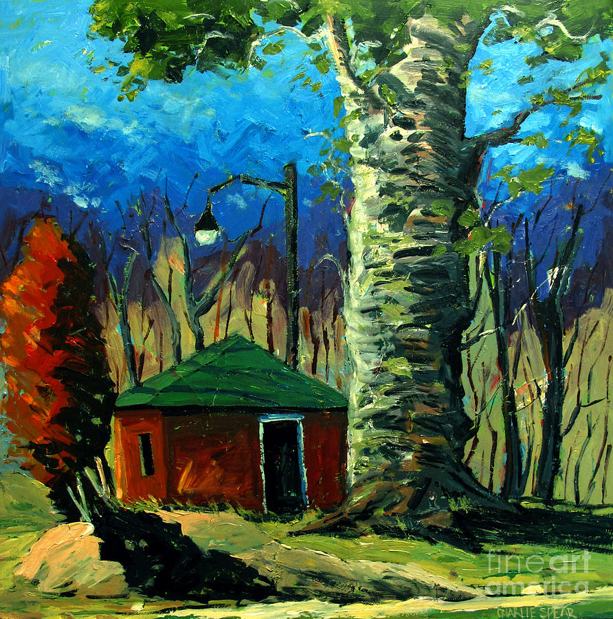 Landscape Painting - Golf Shed Series No 17 by Charlie Spear