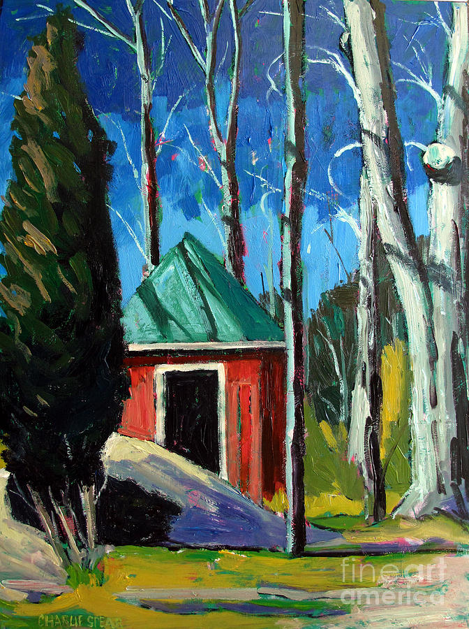 Golf Course Painting - Golf Shed Series No.12 by Charlie Spear