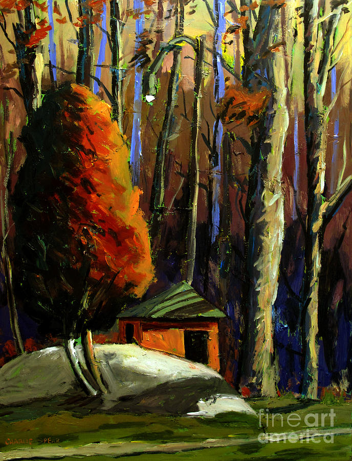 Landscape Painting - Golf  Shed Series No16 by Charlie Spear