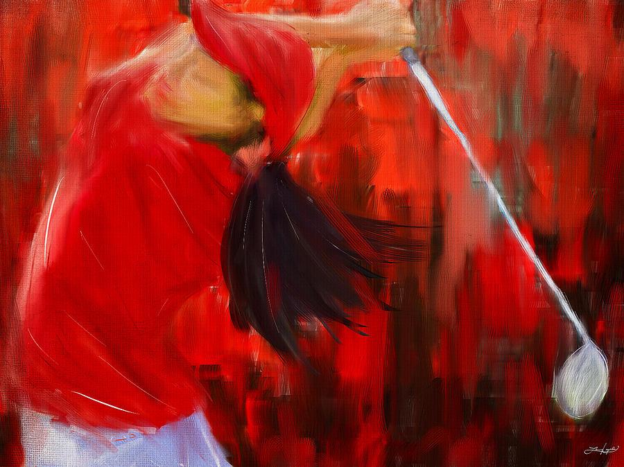 Golf Digital Art - Golf Swing by Lourry Legarde