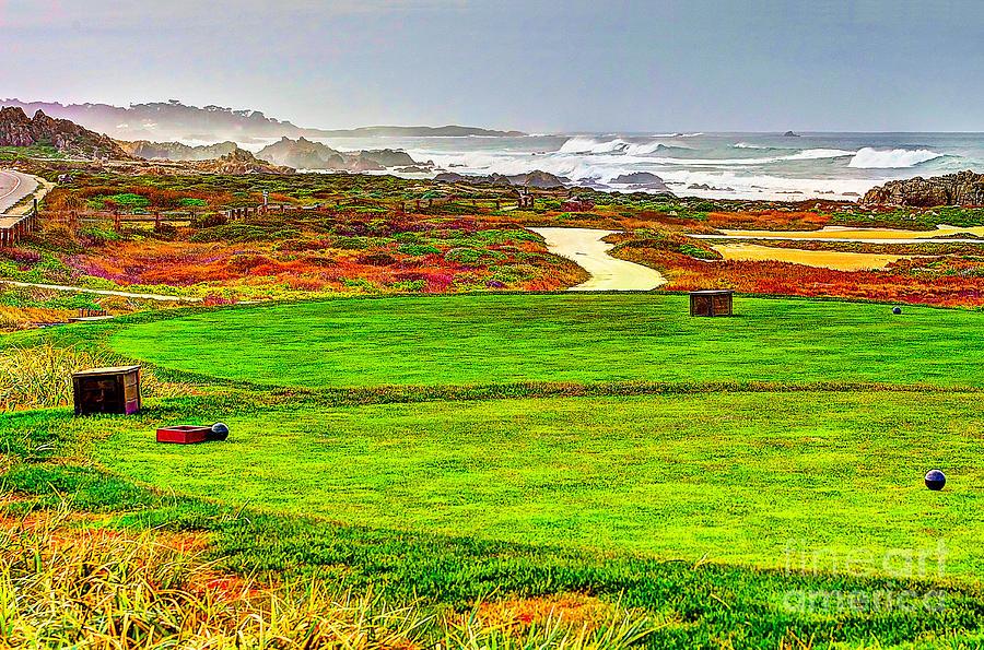 Golf Photograph - Golf Tee At Spyglass Hill by Jim Carrell