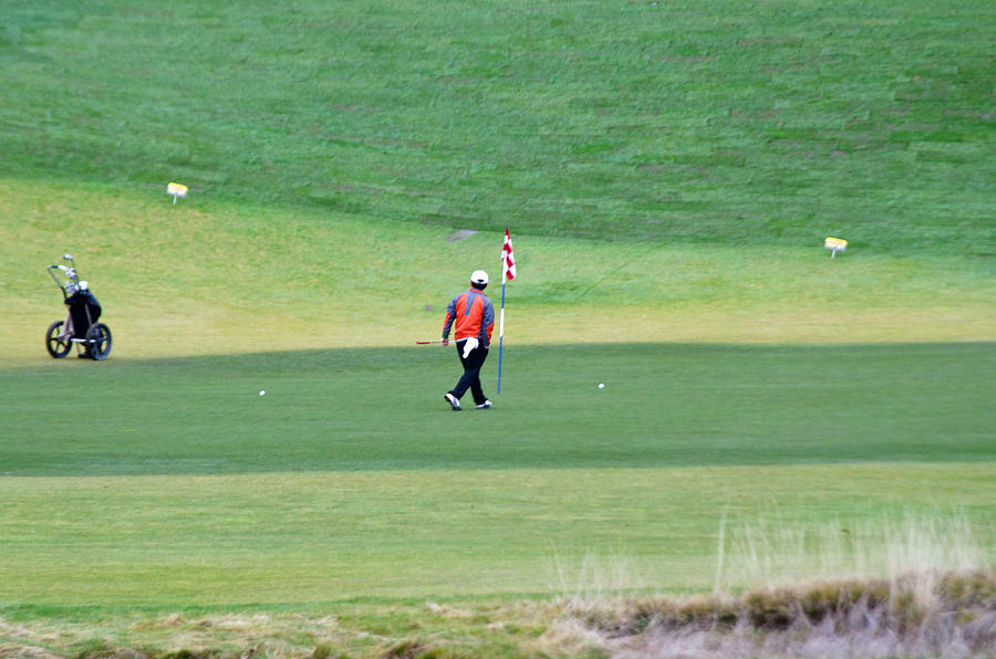 Chambers Bay Photograph - Golfer by Tikvahs Hope