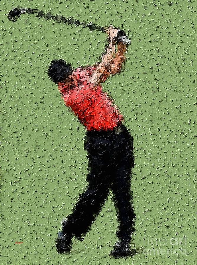 Golfing In The Zone Painting