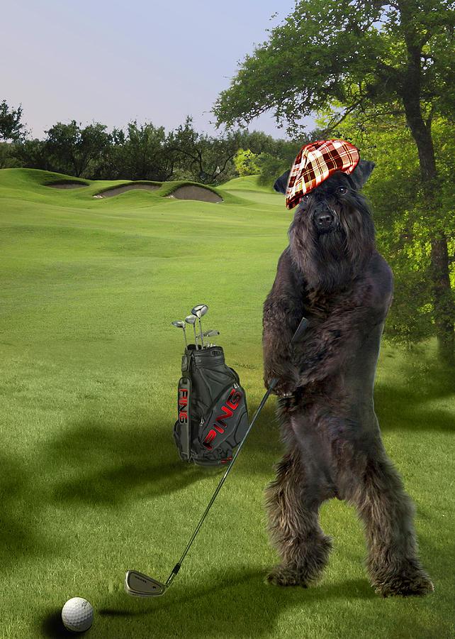 Golfing Terrier Digital Art