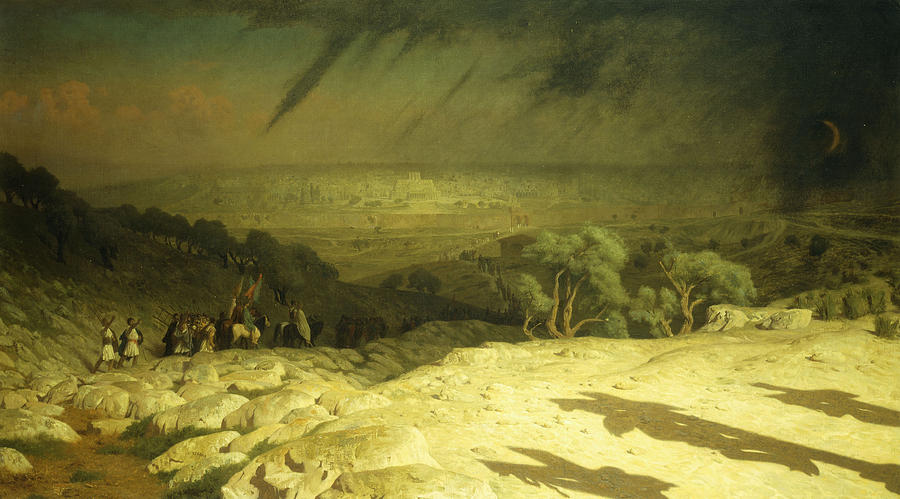 Gerome Painting - Golgotha by Jean Leon Gerome