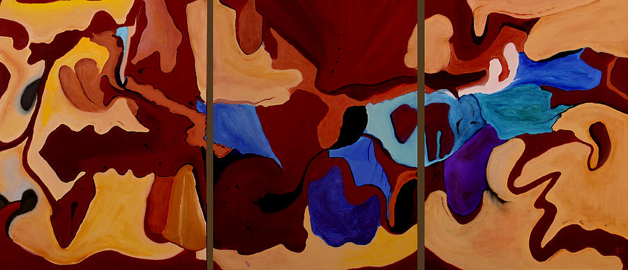 Three Painting - Goliad - Orig Sold by Paul Anderson