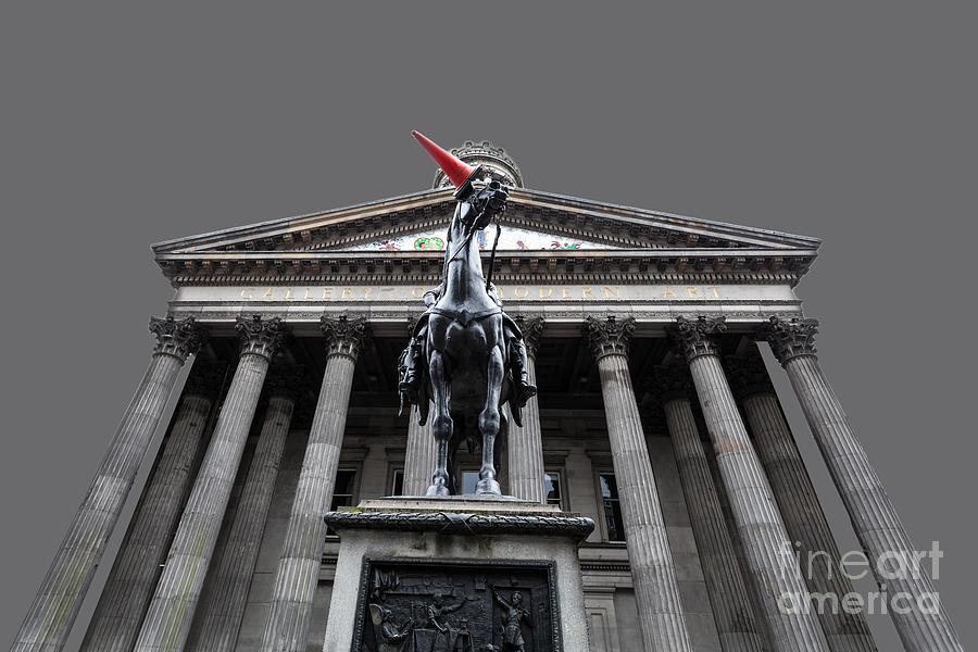 Duke Of Wellington Photograph - Goma Glasgow Pop Art Grey by John Farnan