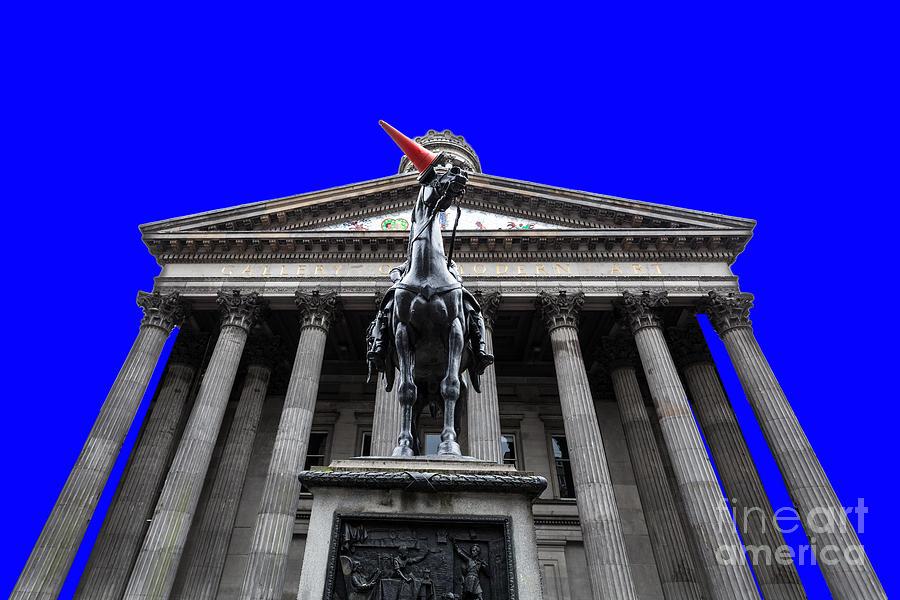 Art Photograph - Goma Pop Art Blue by John Farnan