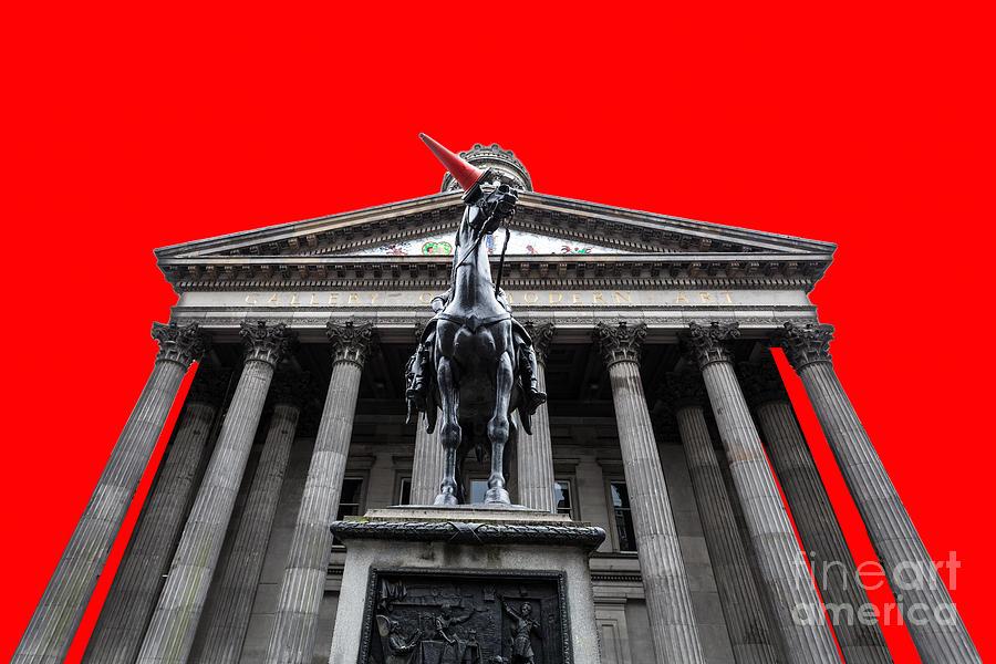 Duke Of Wellington Photograph - Goma Pop Art Red by John Farnan